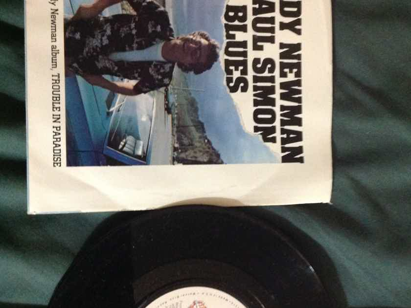 Randy Newman Paul Simon - The Blues/Same Girl Warner Brothers Records 45 Single With Picture Sleeve NM