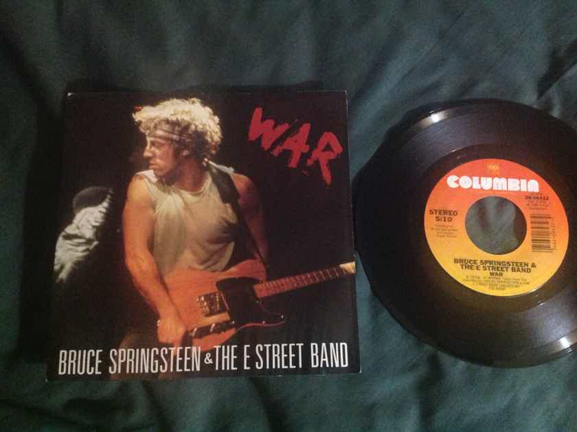 Bruce Springsteen - War/Merry Christmas Baby Columbia Records 45 Single With Picture  Sleeve Vinyl NM