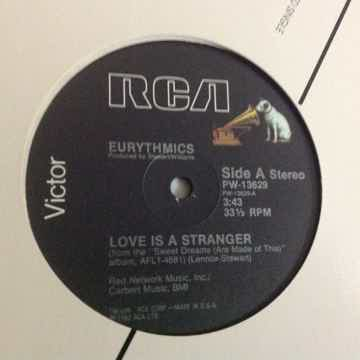Eurythmics Love Is A Stranger/Lets Just Close Our Eyes/Monkey