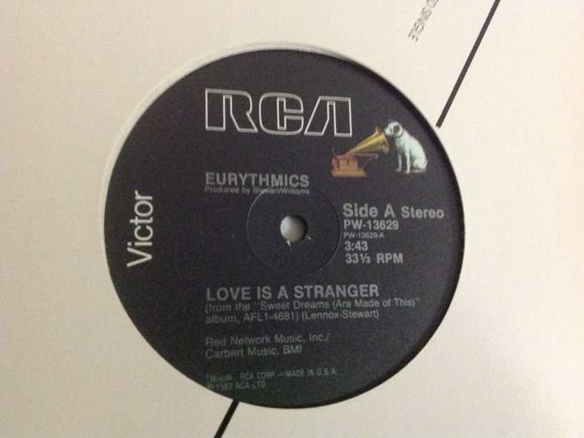 Eurythmics - Love Is A Stranger/Lets Just Close Our Eyes/Monkey RCA Records 12 Inch EP Vinyl  NM