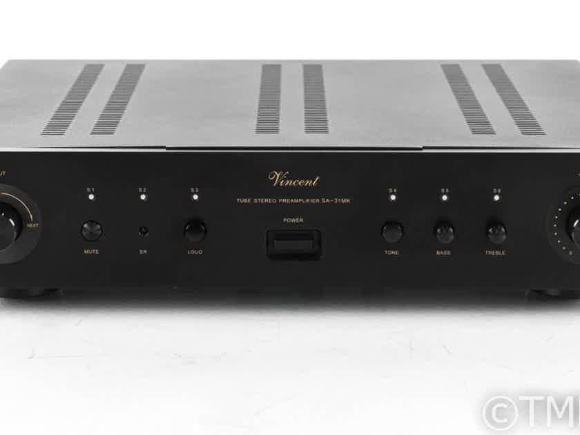 Vincent SA-31MK Stereo Tube Preamplifier; Hybrid; Line-Stage; Black; Remote (21956)