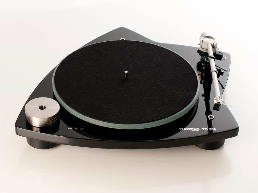 Thorens TD-309 Matt Black Turntable w/ Arm & AT95 Cartridge