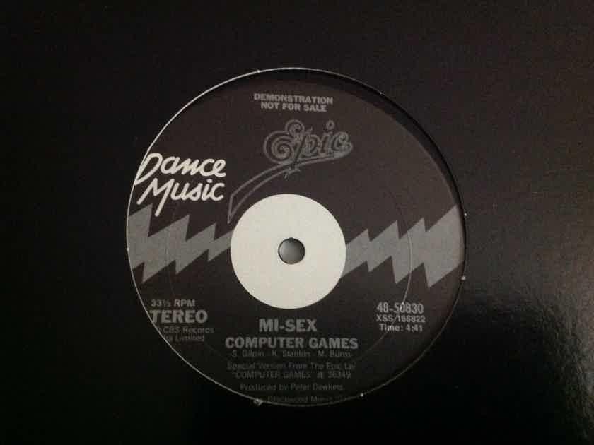 Mi-Sex - Computer Games/Graffiti Crimes Epic Records Promo 12 Inch Single Vinyl NM