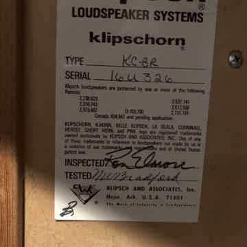 Klipsch Klipschorn KC-BR