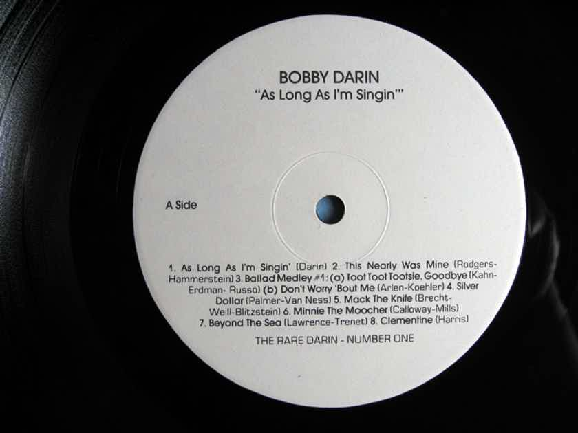 Bobby Darin - As Long As I'm Singin' / Rare 'n' Darin Number 1 - EDP Europadisk Pressing 1986 Rare 'N' Darin Productions