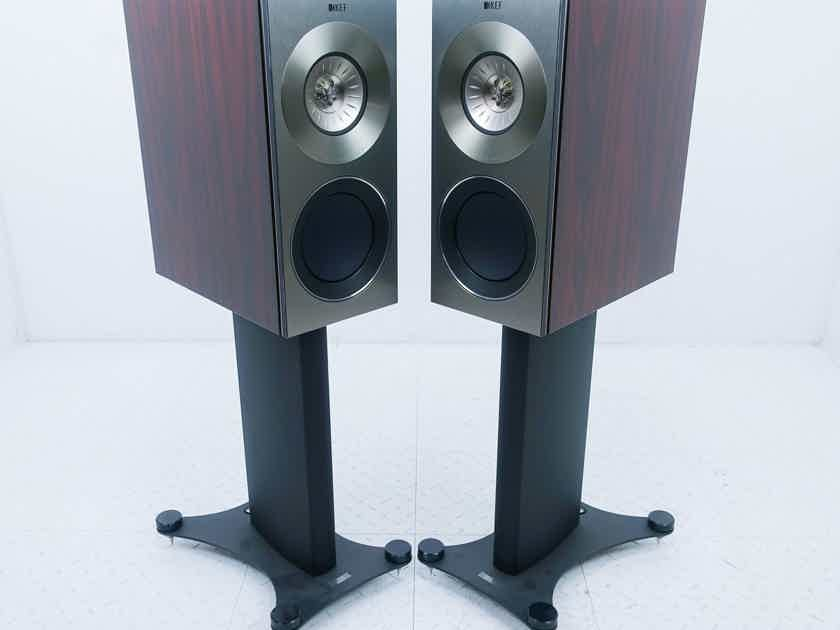 KEF Reference 1 Bookshelf Speakers Gloss Rosewood Pair w/ Stands (15531)