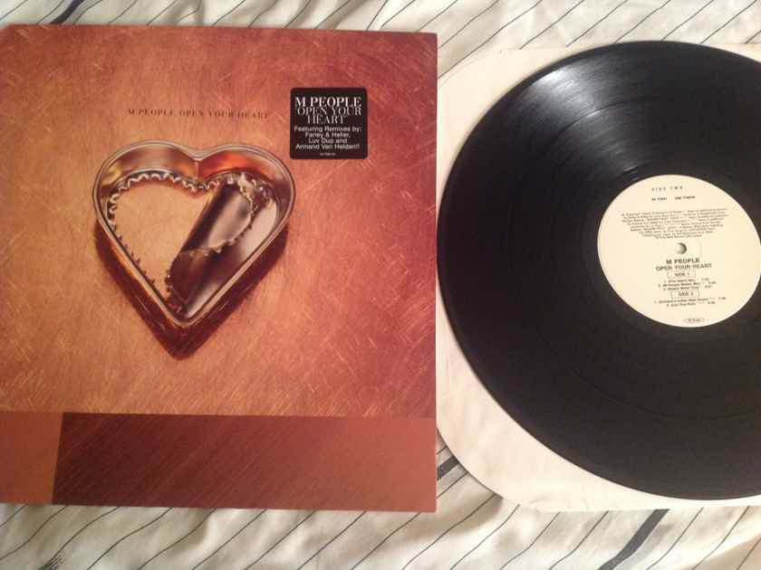 M People  Open Your Heart Epic Dance Records 12 Inch EP