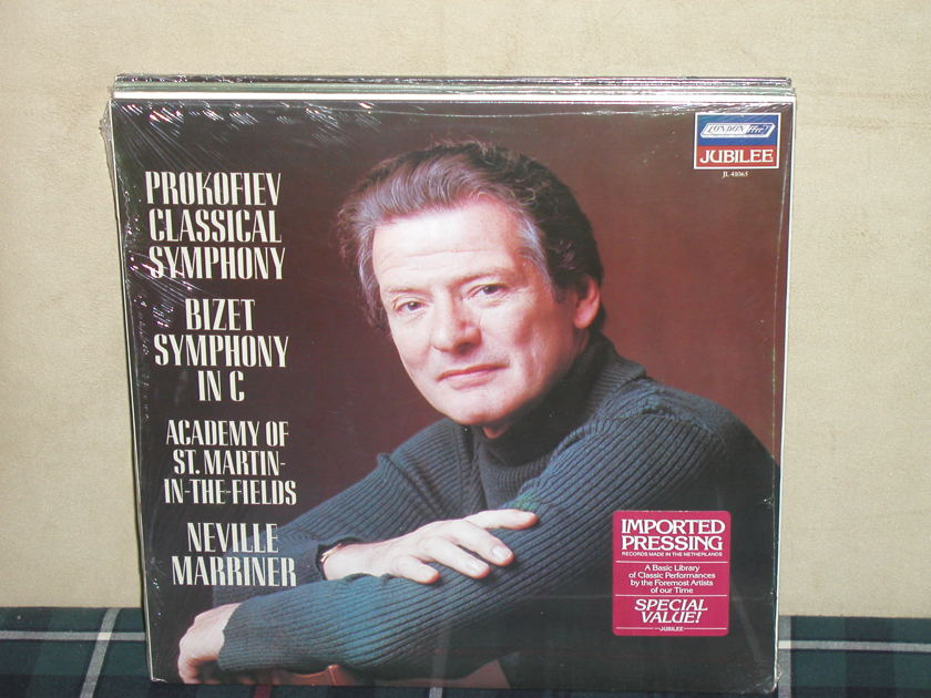 Marriner/AoStMitF - Prokofiev Classical/Bizet Symphony in C London JL41065 Jubilee/Holland press