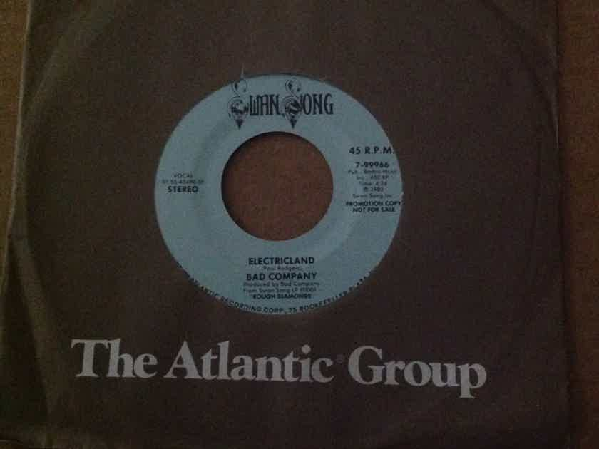 Bad Company - Electricland Swan Song Records Promo Mono/Stereo 45 Single  NM