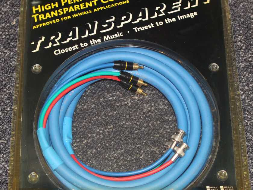 Transparent Audio HP Component Video HPC10 10' BNC to RCA cable