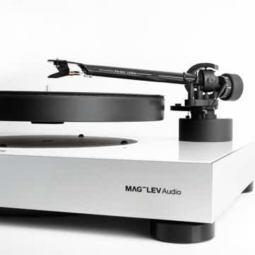 MAG-LEV Audio's LEVITATING TURNTABLE!  ML1 White . Feat...