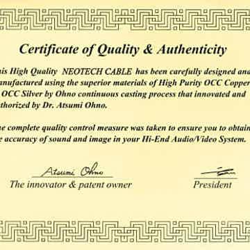 Ohno Certificate