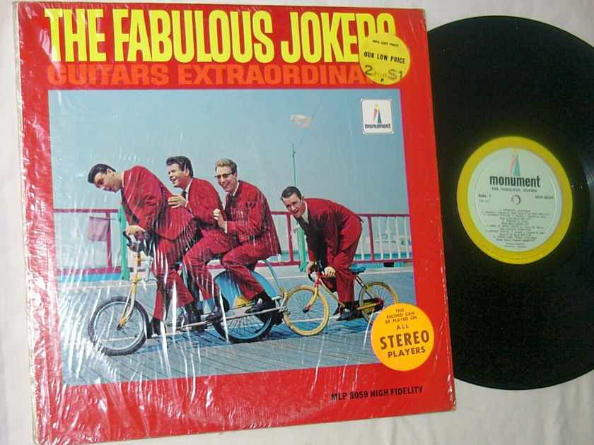 THE FABULOUS JOKERS - GUITARS EXTRAORDINARY - RARE 1966 LP - MONO