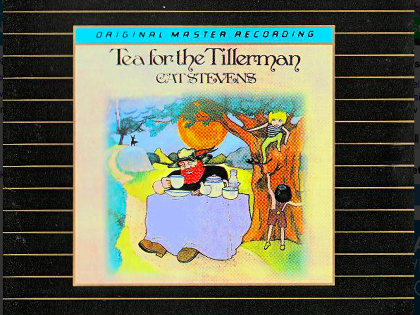 "Cat Stevens ""Tea for the Tillerman"" MFSL 24k Gold CD"