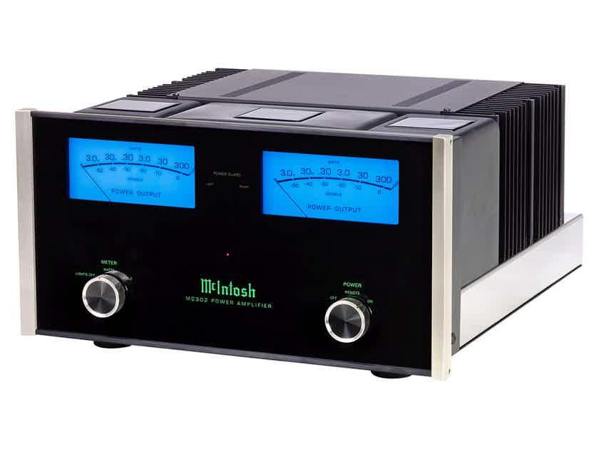 McIntosh MC-302  2-Channel Solid State Amplifier 300 Watts x 2