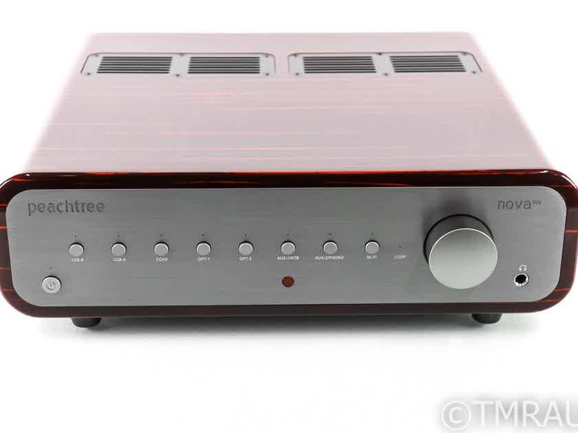 Peachtree Nova 300 Stereo Integrated Amplifier; Gloss Ebony; MM Phono; Remote (27307)