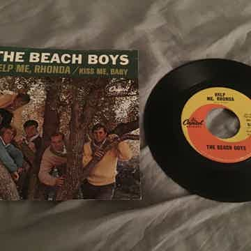 Beach Boys Help Me,Rhonda 45 With Picture Sleeve