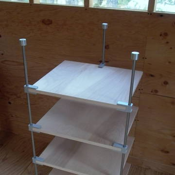 Optimus with birch shelf, three clamps,  this unit is for sale $700