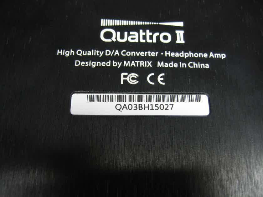 Matrix QUATTRO II DSD 32Bit/384kHz DAC Headphone Amplifier 110v to 240v