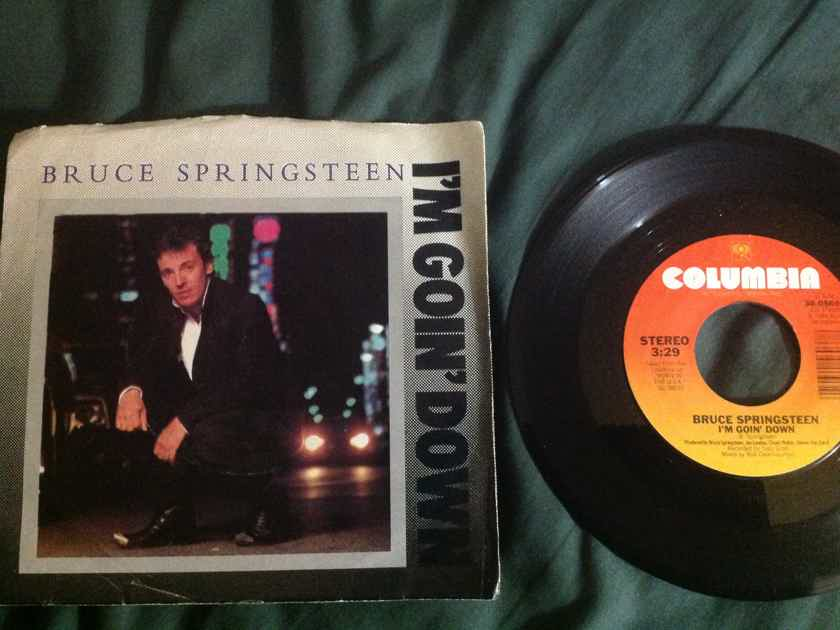 Bruce Springsteen - I'm Going Down/Janey Don't You Lose Your Heart Columbia Records 45 Single With Picture Sleeve Vinyl NM