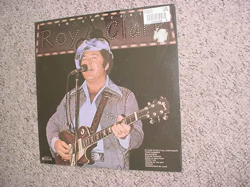 country pickin  Roy Clark lot 3 lp records - a sealed in concert and used family album and family & friends