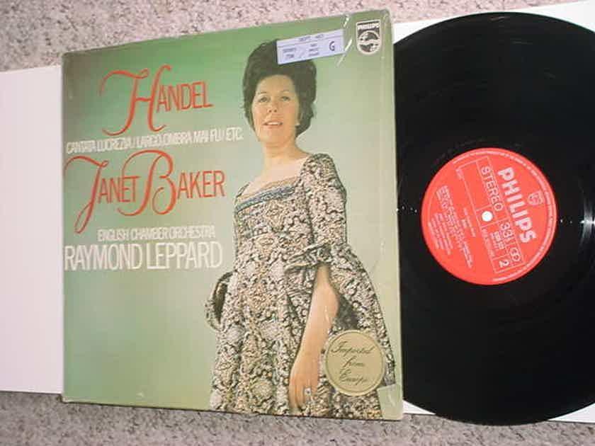 JANET BAKER Handel lp record - Raymond Leppard  Holland PHILIPS 6500 523