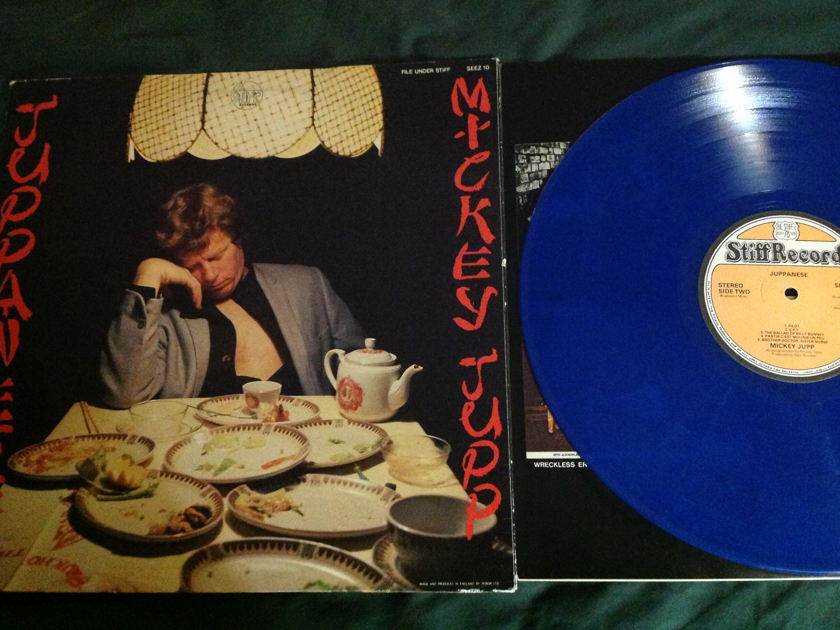 Mickey Jupp - UK Blue Vinyl Stiff Label Nick Lowe Juppanese LP NM