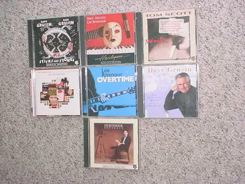 jazz  CD lot of 7 cd's - Dave Grusin Lee Ritenour & 1 Tom Scott