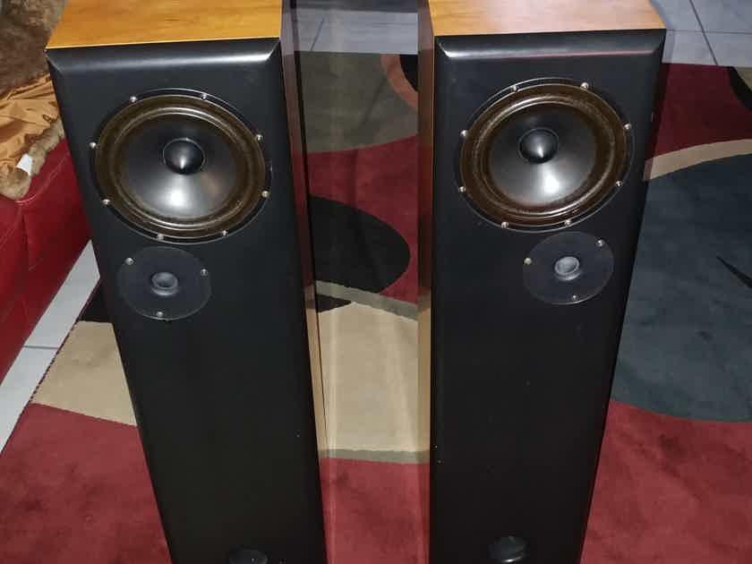 DeVore Fidelity Gibbon 8 glorious 2 way floorstanding speakers.