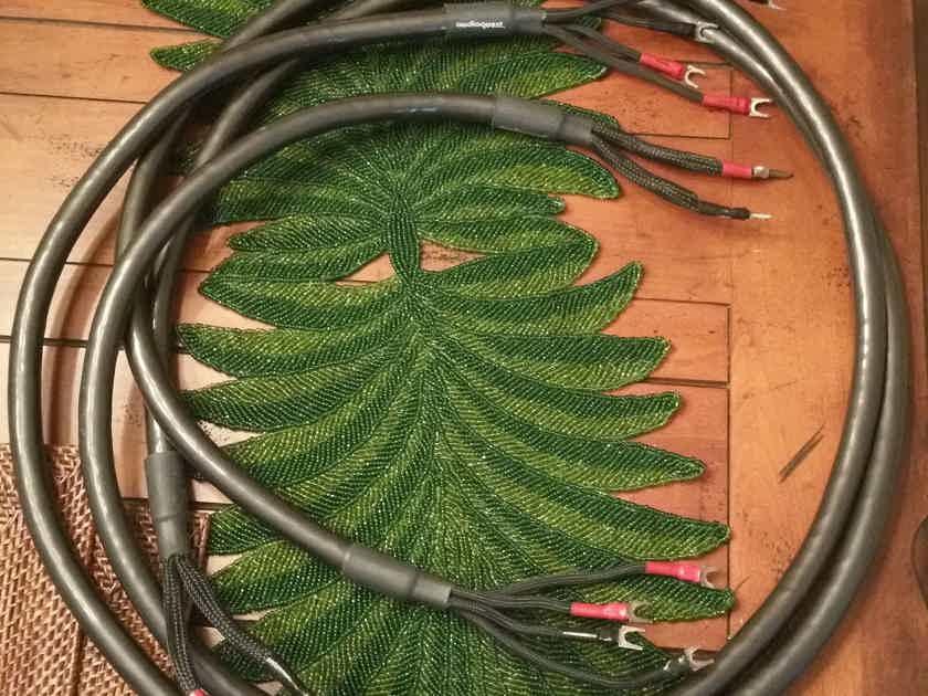 AudioQuest Dragon 8' Biwire Silver speaker cables