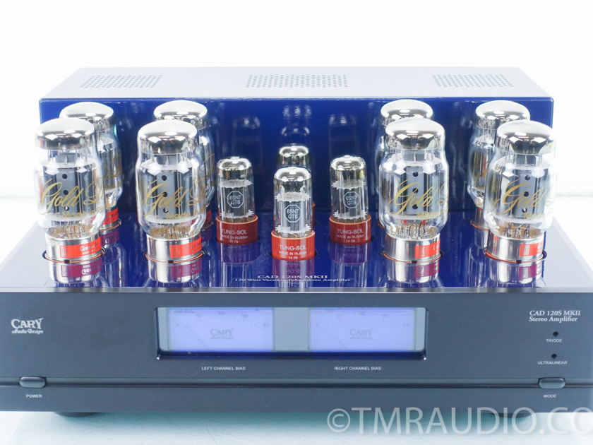 55 CAD 120S MKII Stereo Tube Power Amplifier; Cobalt Blue (9431)