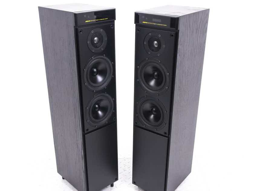 Meridian DSP5000 Digital Powered Floorstanding Speakers; Black Pair; MSR Remote (20643)