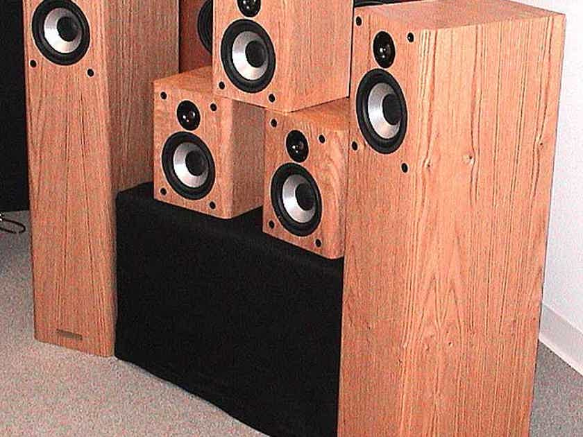 Alumina Five-Cabinet Home Theater Surround Sound System