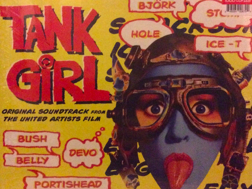 Original Soundtrack from The United Artists Film Tank Girl - Ltd Edition of 1000  from Urban Outfitters - Yellow/Red Vinyl