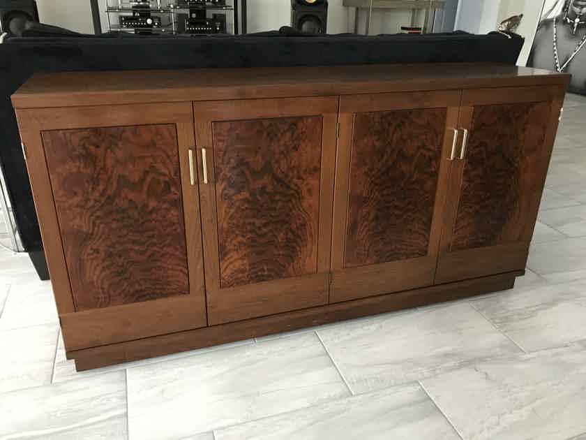 Custom Walnut Record Cabinet