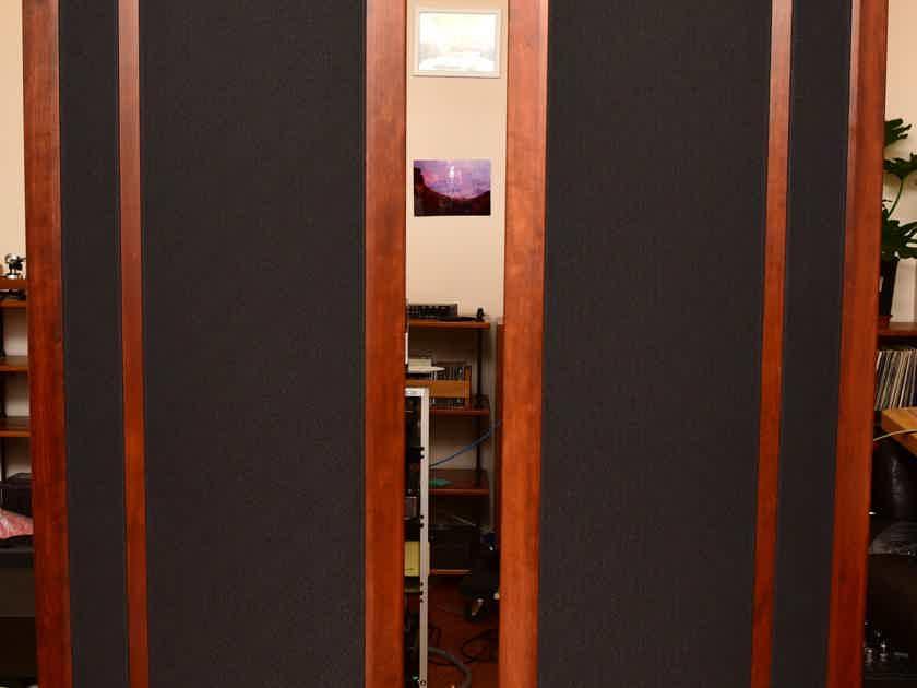 Magnepan 3.7i SPEAKERS in Dark Cherry Trim Black Fabric
