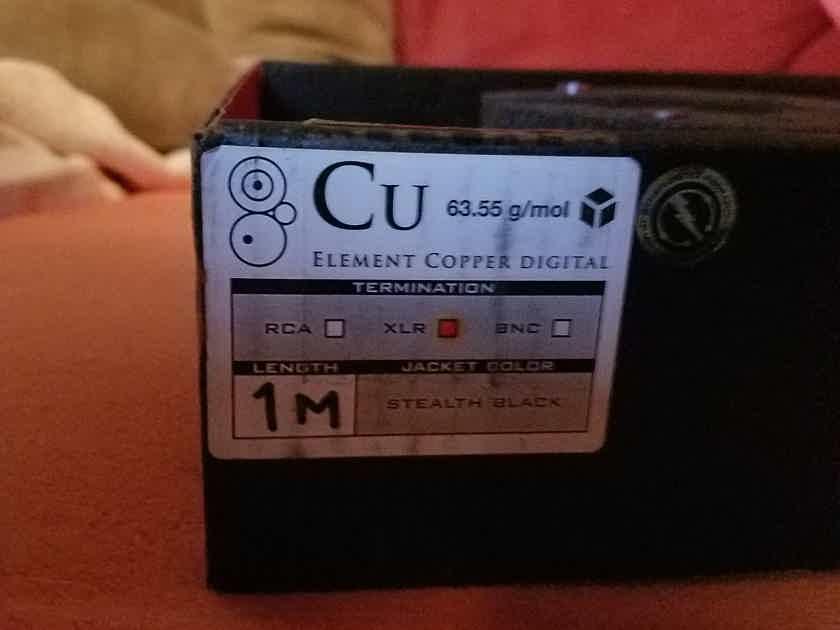 Synergistic Research Element Copper Digital 1m XLR