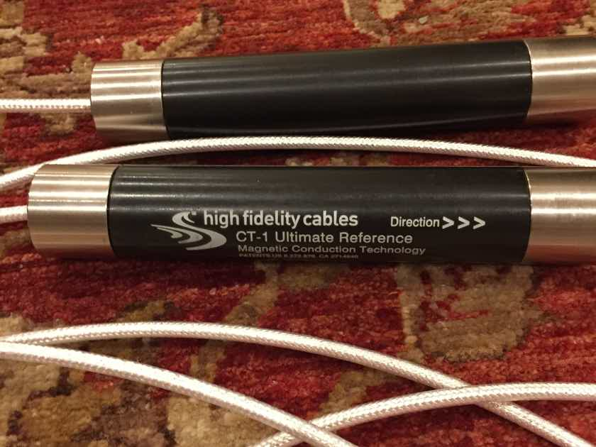 High Fidelity Cables CT-1 Ultimate Reference 5 meter RCA interconnects