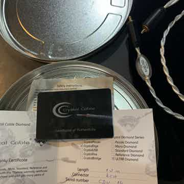 Crystal Cable Ultra Diamond 1 Meter RCA Digital Cable