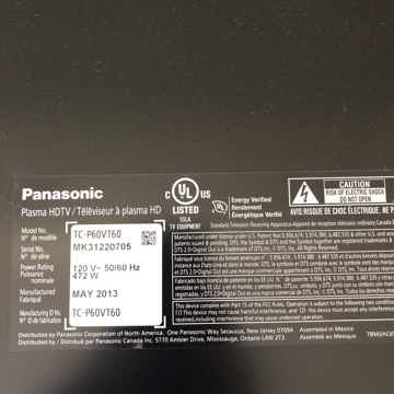 Panasonic TC-P60VT60