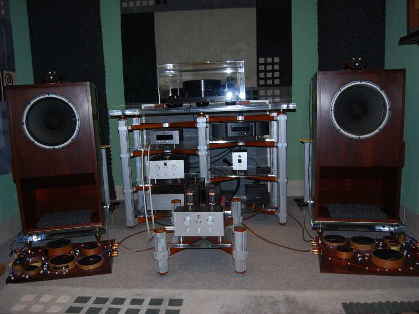 """Tannoy GRF Rectangular Horn Speakers 15"""" Dual Concentric Monitor Reds"""