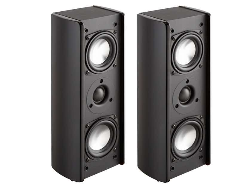 Wharfedale Achromatic WA-S2 Surround Speakers (Black): EXCELLENT Refurb; 180 Day Warranty; 80% Off