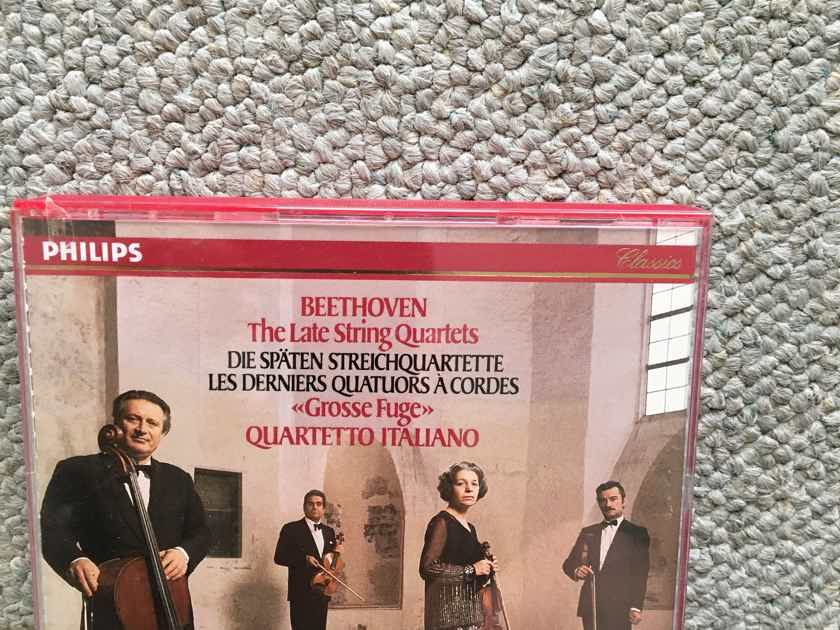 Beethoven Grosse Fuge quartetto Italiano 4 Cd set Philips classics 1989