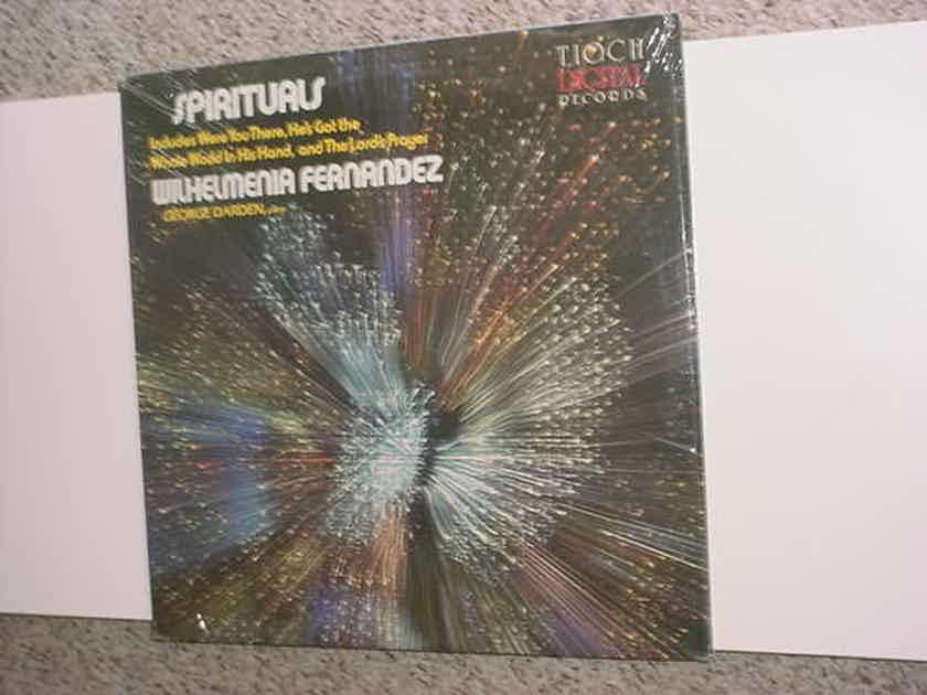 SEALED Wilhelmenia Fernandez - Spirituals lp record 1982 TIOCH DIGITAL TD 1009