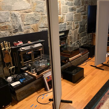 Magnepan 1.7i with DWM Bass Panel and Risers Magna Stands