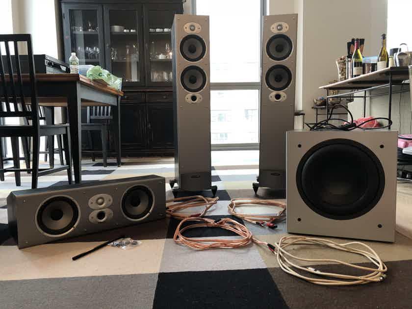 Polk Audio 3.1 Speakers + cables