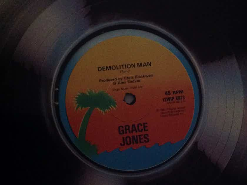 Grace Jones - Demolition Man/Bullshit 12 Inch Single Vinyl Island Records U.K. 45 RPM