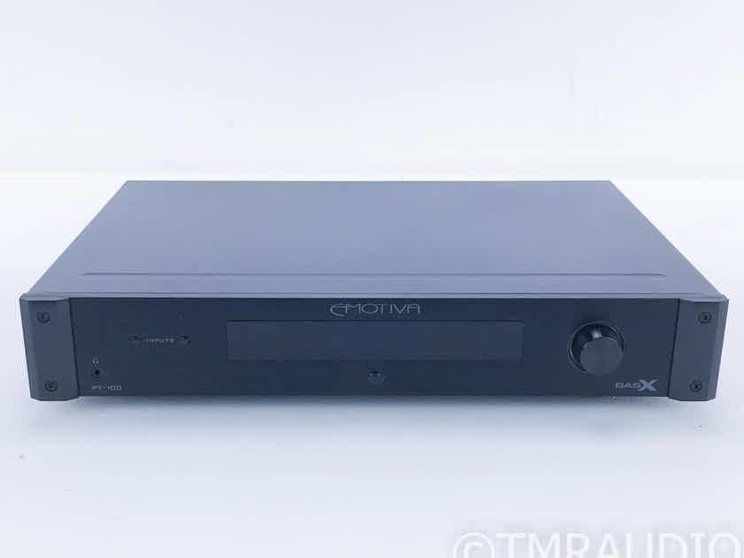 Emotiva BASX PT-100 Stereo Preamplifier PT100; Remote (16679)