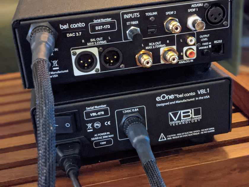 Bel Canto Design DAC 3.7 with brand new VBL Linear PSU and VBREF umbilical cable