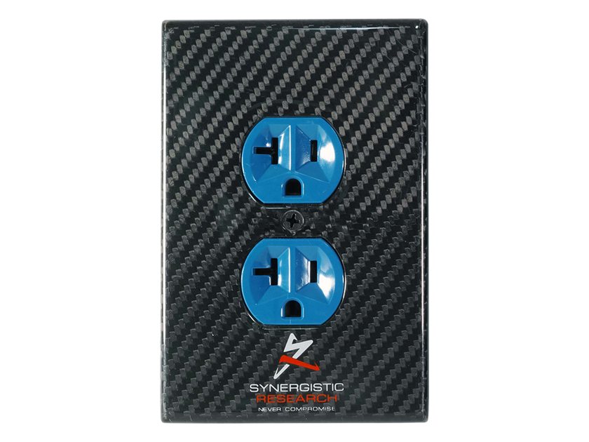Synergistic Research Carbon Fiber Duplex Cover - NEW - get the most out of your receptacles